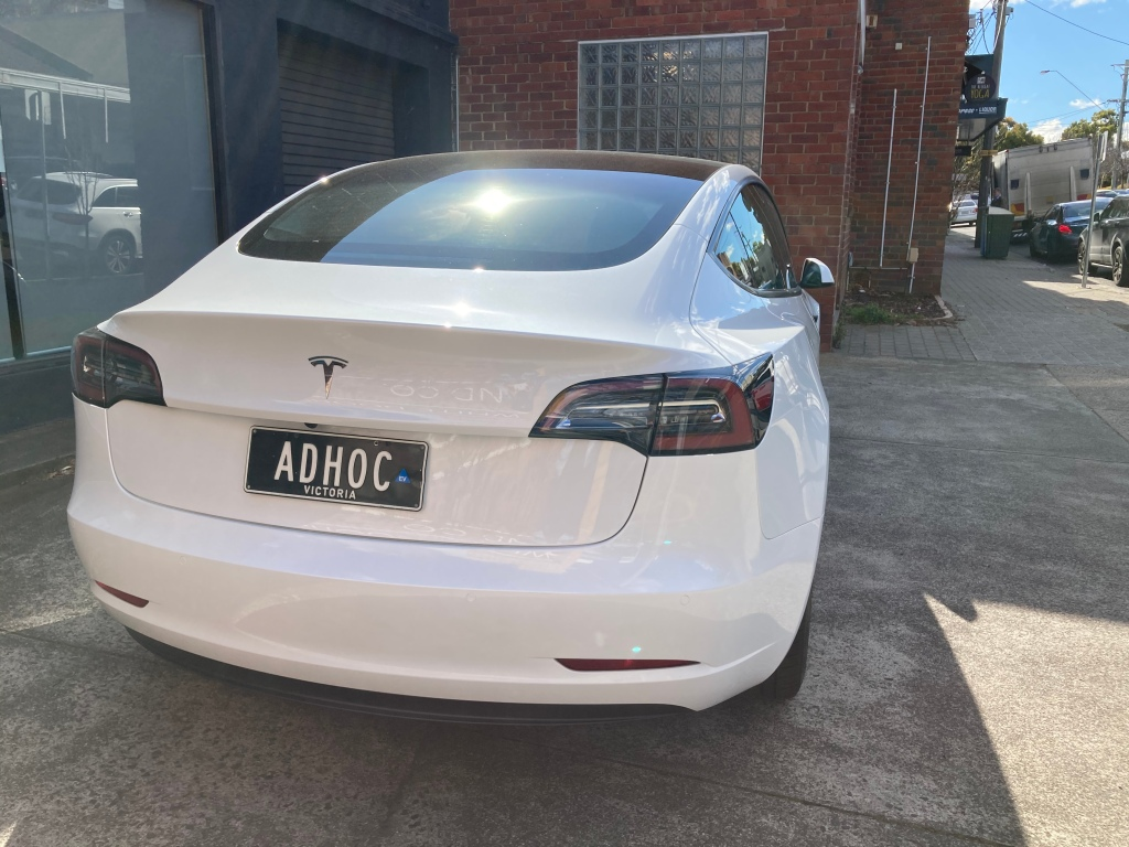 The new Agile Electronics company car, a Tesla Model 3